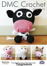 DMC FUNKY FARMYARD ANIMALS ORIGINAL AMIGURUMI/CROCHET PATTERN -15215L/2