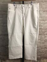 Lucky Brand Women's White Easy Rider Crop Jeans - Tag Size 16/33 *Defects*