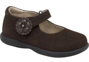 NIB Stride Rite Nicolette Dark Brown Nubuck Mary classic Jane Shoes 7 Wide