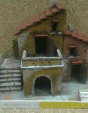 1 casetta scenografia rustica minuterie presepe miniature nativity scene pastori