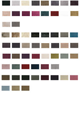 FABRIC SAMPLES for DIVAN BEDS - CHARCOAL, CREAM CHENILLE - GREY SUEDE - VELVET
