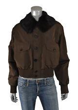 Ralph Lauren Purple Label Silk Fur Bomber Jacket 10 New $4998