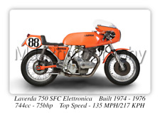 Laverda 750 SFC Elettronica Motorcycle A3 Size Poster on Photographic Paper