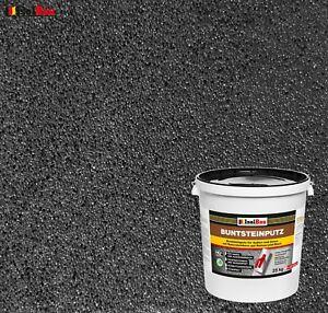 Mosaikputz Buntsteinputz BP 100 (Anthrazit) 25 kg Fertigputz Sockelputz