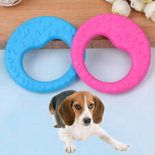 Pet cat dog puppy rubber dental teeth chew circle play training fetch fun toy BH