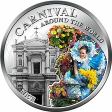 Carnival Around World Nice  Francel silver plated coin PL Fiji 2012