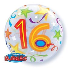 "22"" BUBBLE BALLOON ""16TH BIRTHDAY"" PARTY DECORATION - STRETCHY"