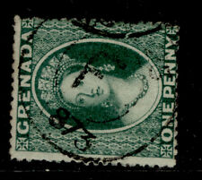 More details for grenada sg10, 1d deep green, fine used. cat £50. cds
