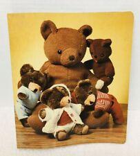 1978 Colad Teddy Bear Notebook Folder Great Shape