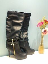 MADELINE GIRL NEW Black Knee-High -High-Heel Boots 7M Shoes