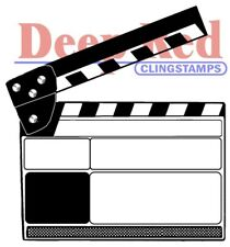 Deep Red Stamps Movie Clapper Rubber Cling Stamp