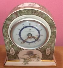 Wedgwood Humming Birds bone china mantle clock in working order