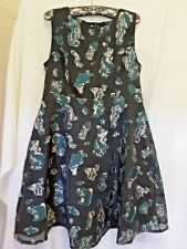 Black Label Contony ladies wedding cocktail  tea dress black and green size 16