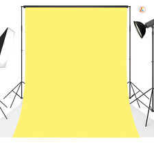 Vinyl CP Photography Backdrop Yellow Background Studio Photo Props 5x7FT 24 LB