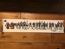 FRANK MAHOVLICH  SIGNED TORONTO MAPLE LEAFS ALL-TIME GREAT TEAM 8 X 39 POSTER