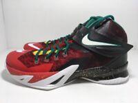 Nike Zoom Soldier 8 VIII Lebron Christmas Black Red 688579-016 Men's Size 10.5