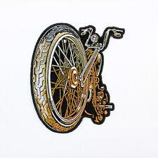 Biker Chopper Motorrad Big Wheel Custom Bike Rad Aufbügler Aufnäher Patch USA