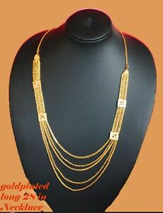 Real looking  gold plated Necklace Chain - Indian Fashion jewelry twist Chain