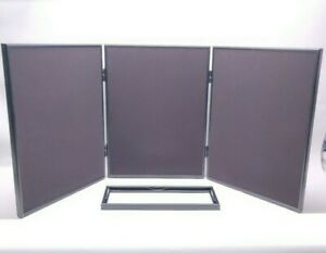 "Pharmakon Multi-Position 3 Panel, Header & Case Approx 54"" x 20"" Folding Display"