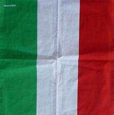 'Italian Flag '100% Cotton Paisley Bandana(55cm x 55cm) Durag/head wrap.Headwear