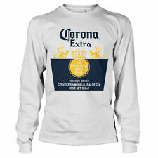 Officially Licensed Corona Extra Label Long Sleeve T-Shirt S-XXL Sizes