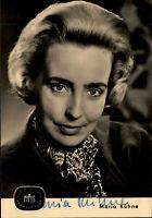 Autogrammkarte Autograph Film Bühne DDR Fernsehen signiert MARIA KÜHNE ~1962