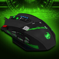 Adjustable Optical Programmable ZELOTES C12 12keys Wired Gaming Mice Mouse-