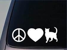 "Peace Love Cats sticker *H46* 8"" vinyl decal catnip"