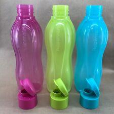Tupperware Eco Water Bottle Flip Top Large 25 oz. Set of 3 Pink Blue Green New