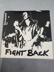 """Discharge, Fight Back, original Clay 7"""" punk single."""