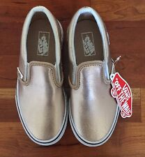 VANS FOR JCREW CLASSIC SLIP ON ROSE GOLD SNEAKERS GIRLS SZ K13