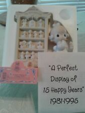 """Precious Moment """"A Perfect Display Of 15 Happy Years""""1995 Commemerate Memb Only"""