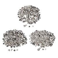 100 Stück Strass Nieten Ziernieten Schmucknieten Hohlnieten Silber für