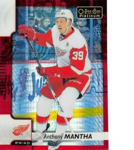2017-18 O-Pee-Chee Platinum Red Prism #17 Anthony Mantha /199