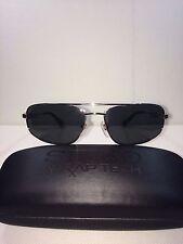 New Seiko Wraptech W005 001 SHINY GOLD Lens Gray Sunglasses 60-16-140