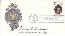 23 SEP 1979 JP JONES COVER SIGNED BY COMMANDER OF THE FIRST ATOMIC SUBMARINE