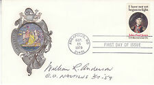 23 sep 1979 JP Jones couverture signée par le Commandant de la première Atomic Submarine