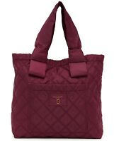 Marc Jacobs Bag Diamond Quilted Nylon Large Tote Plum NEW $225