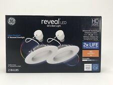 """GE 4"""" 2 Pack LED Reveal Dimmable Recessed Flush Mount Light 45004"""