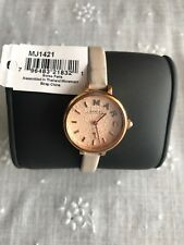 MARC BY MARC JACOBS Rose Dial Grey Leather Ladies Watch