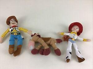 Walt Disney World Toy Story Plush Bean Bag Stuffed Woody Jessie Bullseye Kellogg