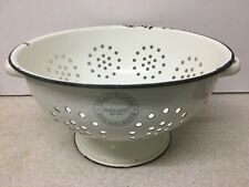 Large 26 cm PARLANE Traditional Enamel Ware Colander with Handles