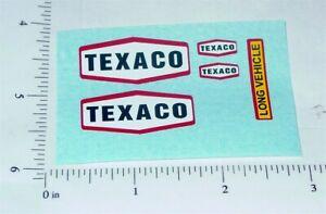 Matchbox Texaco Tanker Semi Truck Stickers     MB-K16B1