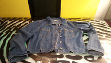 Original Au Coton Jean Jacket Womens Size Large Good Condition RARE