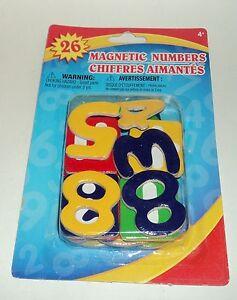 26 Magnétique Chiffres Âges 4 + Nip
