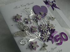 Personalised Handmade Mothers Day/Mum Birthday Card 18,21, 40, 50, 60 with BOX