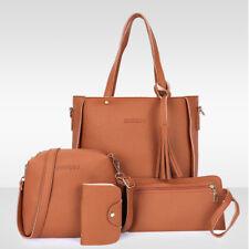 4PC/set Women Leather Handbag Lady Shoulder Bag Tote Purse Messenger Satchel Lot