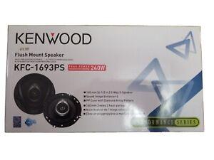 "Set of 2 Kenwood KFC-1693PS Performance Series Flush mount Speakers 6 1/2"""