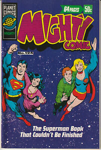 Australian: Mighty Comic #124 Planet Comics 1978 Superman Jimmy Olsen Lois Lane