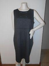 Classy Classic Dark Gray Plaid Checkered Merona Sleeveless Dress XXL 2X Plus Sz